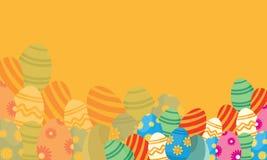 Appartement de vecteur des milieux de thème de Pâques Image libre de droits