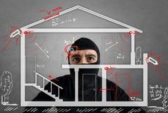 Appartement de voleur Images libres de droits
