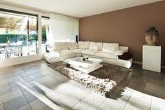 Appartement intérieur et bel photo libre de droits