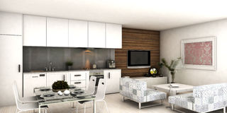 Appartement intérieur moderne Photo stock