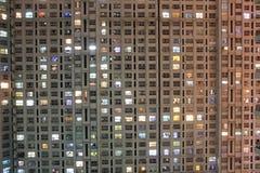 Appartement la nuit Photos stock
