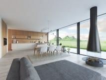 Appartement moderne de grenier rendu 3d Photographie stock libre de droits