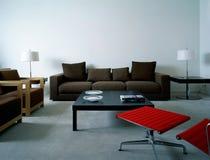Appartement moderne de salle de séjour Photographie stock libre de droits