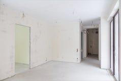 Appartement non fini vide Images libres de droits