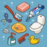 Appartement réglé de salle de bains Photographie stock libre de droits