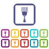 Appartement réglé par icônes de lecteur de code à barres illustration libre de droits