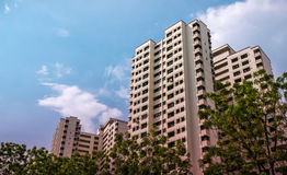 Appartement résidentiel public de logement de Singapour dans Bukit Panjang Images stock