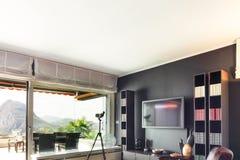 Appartement, salon confortable photo libre de droits