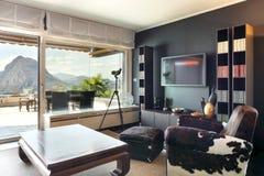 Appartement, salon confortable photographie stock libre de droits
