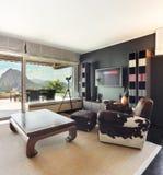Appartement, salon confortable images libres de droits