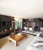 Appartement, salon confortable image stock