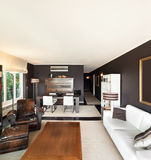 Appartement, salon confortable photo stock