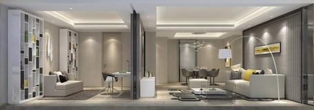 Appartement supérieur de Changhaï l'espace d'activité du salon image libre de droits