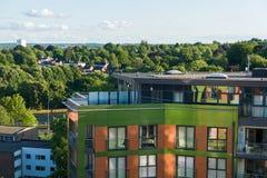 Appartement terrasse avec la terrasse Images stock