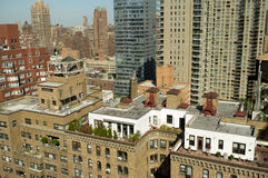Appartement terrasse de dessus de toit de New York City Photo libre de droits