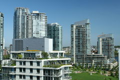 Appartement terrasse urbain Images stock