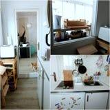 Appartement tour: Entry/kitchen (+ corgi) Royalty Free Stock Photos