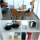 Appartement tour: Veranda/living room Royalty Free Stock Photos