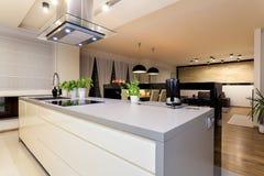 Appartement urbain - compteur blanc Images stock