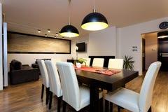 Appartement urbain - intérieur climatique images libres de droits