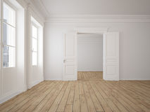 Appartement vide de grenier rendu 3d Image stock