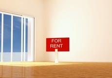 Appartement vide neuf pour le loyer illustration de vecteur