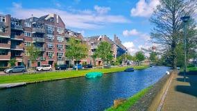 Appartementkomplex, Leiden Stockfotos