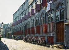 Appartements在市的历史的中心乌得勒支 免版税库存照片