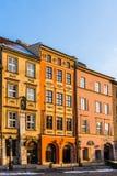 Appartements antiques dans la vieille ville Photo stock