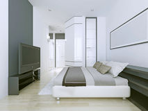 Appartements blancs dans le style de contemporaryu Image stock