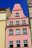 Appartements colorés et historiques de place du marché Abaissez la Silésie, WROCLAW, l'Europe Images stock