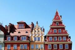 Appartements colorés et historiques de place du marché Abaissez la Silésie, WROCLAW, l'Europe Photos libres de droits