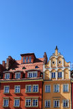 Appartements colorés et historiques de place du marché Abaissez la Silésie, WROCLAW, l'Europe Photographie stock