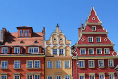 Appartements colorés et historiques de place du marché Abaissez la Silésie, WROCLAW, l'Europe Photographie stock libre de droits