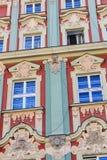 Appartements colorés et historiques de place du marché Abaissez la Silésie, WROCLAW, l'Europe Photo libre de droits