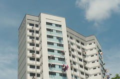 Appartements d'appartements du panneau d'ensemble immobilier privé (HDB) Singapour Photos stock
