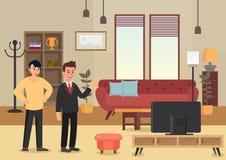 Appartements de démonstration Illustration plate de vecteur illustration stock