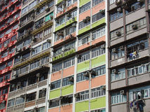 Appartements de Hong Kong photos libres de droits