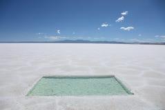 Appartements de sel de l'Argentine Photographie stock libre de droits