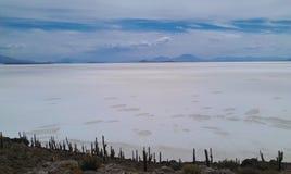 Appartements de sel de la Bolivie, Salar de Uyuni photos stock