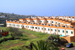 Appartements ensoleillés et colorés sur la La Palma Spain photo stock