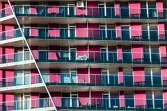 Appartements pourpres de bloc Images stock