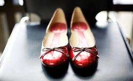 Appartements rouges de ballet Photos libres de droits