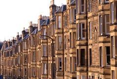 Appartements victoriens, boîtier résidentiel au R-U Photographie stock libre de droits