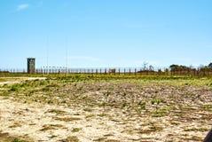 Appartheid turistico di visita della prigione dell'isola di Robben fotografie stock