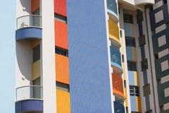 Appartment Block. South Facing Balcony's With Shadow, Tel Aviv City near the beach Stock Photo