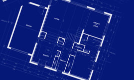 Appartment Blueprints. Blueprints showing distribution of an appartment Royalty Free Stock Images