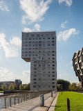 Appartment building in the modern city centre of Almere, The Net Royalty Free Stock Photo