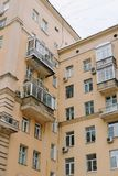 Appartment house in Moscow royalty free stock photo