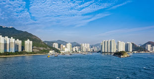 Appartments in Aberdeen Hong Kong build in Fen Shui Style Stock Photography
